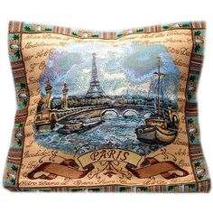 Paris Decorative Tapestry Throw Pillow ($19) ❤ liked on Polyvore featuring home, home decor, throw pillows, tapestry throw pillows, fabric home decor, colored throw pillows, patterned throw pillows and paris throw pillows