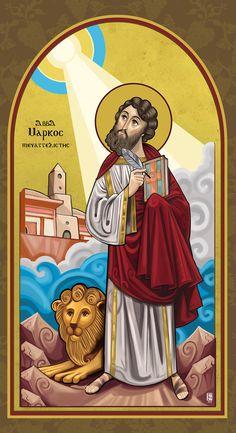 St. Mark the EvangelistDigital paintingNew Coptic Style