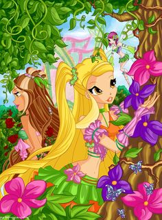 Flora and Stella - the-winx-club Fan Art