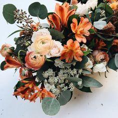 Pretty fall flower arrangement