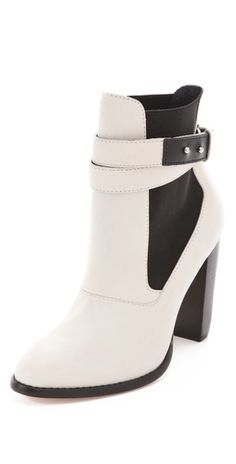Elizabeth and James Solar Booties - winter white never looked so tempting.