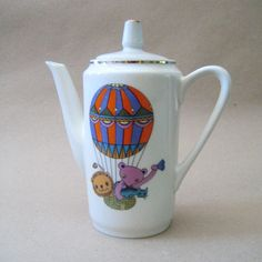 The Voyage. Vintage 1960s East German Kahla coffee pot.. $36.00, via Etsy.