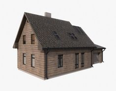 Building 002 Model in Buildings 3d Architecture, Buildings, Cabin, House Styles, Model, Home Decor, Decoration Home, Room Decor