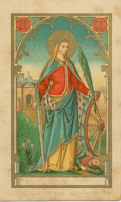 """""""If you are ruled by the mind you are king, if by the body you are a slave."""" St. Catherine of Alexandria 290-305 Patron of: Philosophers, Librarians, Mechanics, Millers, Nurses, Potters, Scholars, ..."""