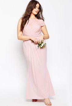 Blush bridesmaid dress from ASOS