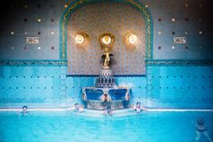 Art Nouveau fountain at Gellert Baths. Image by Will Sanders / Lonely Planet