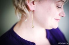 Make your own DIY hex earrings ~ also directions for lariat hex nut necklace, bonus!