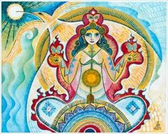 """""""The sacredness of life can be revered in one meal by realizing the interconnections that underlie it. We can acknowledge and honor those web-like tendrils of connectivity through the act of gratitude, grace, intention, and prayer."""" - Deanna Minich   (Art by Mara Berendt Friedman)"""