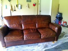 House Revivals: How to Dye a Leather Sofa or Chair