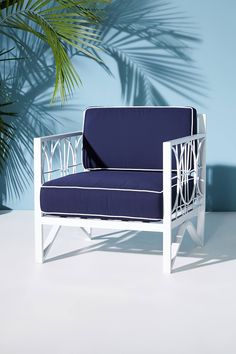 Poolside Indoor/Outdoor Chair Cushion Set | Anthropologie
