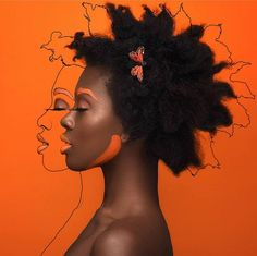 """Using Foundation in shade and body paint! 🌈 __________________________________________________ """" They gone get this Black girl magic today. Orange Aesthetic, Black Girl Aesthetic, Creative Photography, Portrait Photography, Fashion Photography, Human Photography, Photomontage, Wie Zeichnet Man Manga, Poster Photo"""
