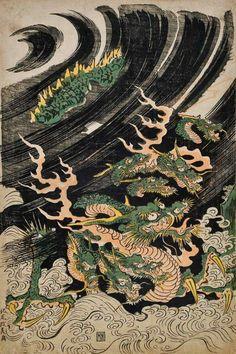 Dragon sur Vagues - Yamata-no-Orochi