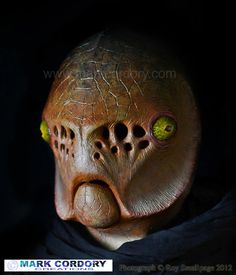 LARP - LRP Mythlore New Lands event  - Gillman -  Photograph courtesy & © Roy Smallpage 2012 Mask by Mark Cordory Creations www.markcordory.com