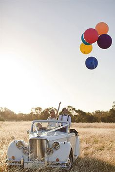 A Gorgeous, Parisian-Themed Wedding For The Books #refinery29  http://www.refinery29.com/100-layer-cake/18#slide1     Vintage Car: Belle