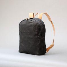 Wax Zip Backpack By Joshu Vela Handmade With Waxed Canvas...