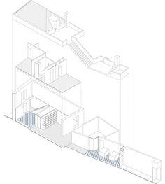 Casa ALM,Axonometrico