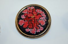 Faux Needlepoint Pin 2 by Bits of Clay, via Flickr