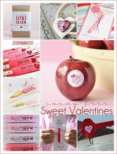 Valentines : Super cute CANDY FREE Valentine Ideas… LOVE it! #valentines #gifts