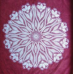 PDF pattern downloaded Crocus Doily by Hartmut Hass