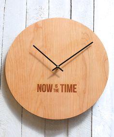 u0027now is the timeu0027 wall clock