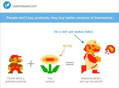 """Las personas no compran productos; compran versiones """"mejoradas"""" de ellos mismos."""
