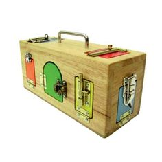 Lock Activity Box by Mamagenius, Montessori Materials for Toddlers