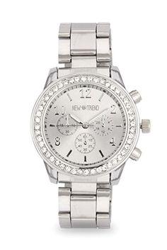 3c86f90962232d Fashion Damenuhr Armbanduhr Strass Uhr Farbe Silber Silberne Edelstahl  Armbanduhren Design Schmuck Frauen Quarzuhr Günstig Mingbo