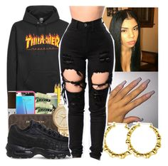 """-THRASHER CONTEST-"" by bxtchslayy ❤ liked on Polyvore featuring Michael Kors and NIKE"