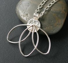 Petals Necklace  Sterling Silver Petals Pendant by CoriluDesigns