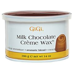 GiGi Milk Chocolate Creme Wax features a luscious chocolate aroma that creates an aromatic waxing experience.