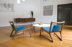 The Amore Mio Low Chair and Coffee Table by Jon Goulder