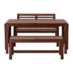 ÄPPLARÖ Stôl+2lavice vonk IKEA