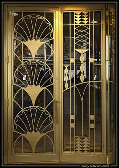 Art Deco Brass Architectural Doorway (Doors of Chicago Illinois) & Art Nouveau/Art Deco style double doors. | Doors | Pinterest | Art ...