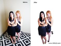Remove background | remove flash over exposure | touch up clothing and skin tone