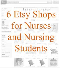 6 Etsy Shops for Nurses and Nursing Students, some are kinda cute, like the flower id tags and stethoscope id.