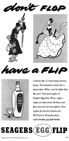 Don't flop, have a flip! #vintage #food #1950s #ads