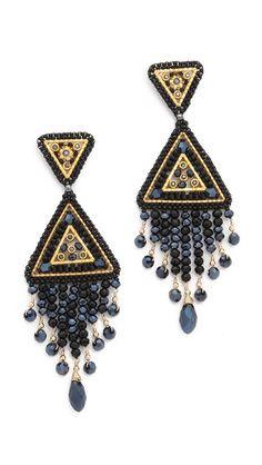 Miguel Ases Swarovski Chandelier Earrings