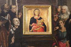 Naddo Ceccarelli - Madonna col Bambino (1350-90 ca.), attorno Gloria di Dio e santi di Crescenzio Gambarelli (1610 ca.) - Chiesa di San Martino, Siena