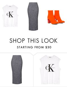 """""""Untitled #221"""" by dianehoneyd ❤ liked on Polyvore featuring Topshop and Calvin Klein"""