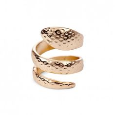 Sole Society Confident - Hammered Snake Ring - Gold