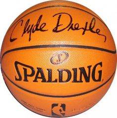 Clyde Drexler Autographed Basketball - Spalding Indoor/Outdoor - JSA #SportsMemorabilia #PortlandTrailblazers Indoor Basketball, Basketball Tips, Basketball Players, Clyde Drexler, Nba Merchandise, Portland Trailblazers, Trail Blazers, Love To Meet, Nba Players