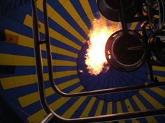 Inside one of our old hot air balloons!