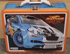 Hot Wheels Tin Lunch Box - Boys - New - School - Racing - carrying case - boys