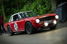 Great looking TR6 Rally car