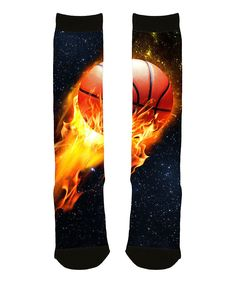 de84d09021a Loving this Black Basketball Meteor Sublimated Knee-High Socks on