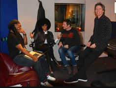 Simon and John recording #PressureOff with Nile Rodgers​ and Janelle Monáe​ at Village Studios, Los Angeles