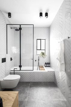 40 Luxury Bathroom Designs With Modern Shower - FashDeco Minimalist Bathroom Design, Modern Bathroom Design, Bathroom Interior Design, Bathroom Designs, Bath Design, Modern Bathrooms, Farmhouse Bathrooms, Modern Farmhouse, Small Bathrooms