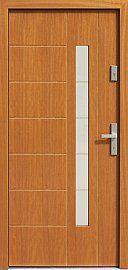 Drzwi zewnętrzne nowoczesne model 475,16+ds11 w kolorze złoty dąb