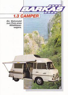 Barkas 1.3 Westfalia Camper (German leaflet)   Skitmeister   Flickr Camper Caravan, Camper Trailers, East German Car, East Germany, Buggy, Cars And Motorcycles, Touring, Vintage Cars, Automobile