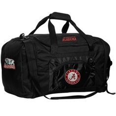 Alabama Crimson Tide Black Roadblock Duffel Bag- got this for Nick for the gym...it is bigger than it looks!